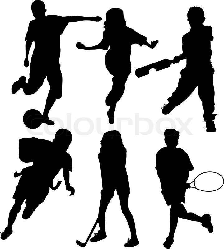 720x800 Soccer Players Silhouettes Of Kids