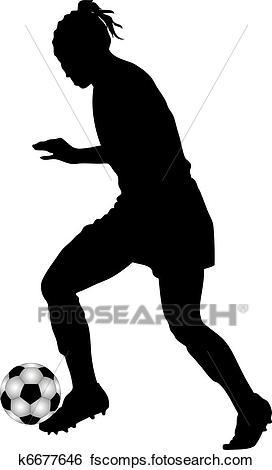 272x470 Stock Illustration Of Female Soccer Player K6677646