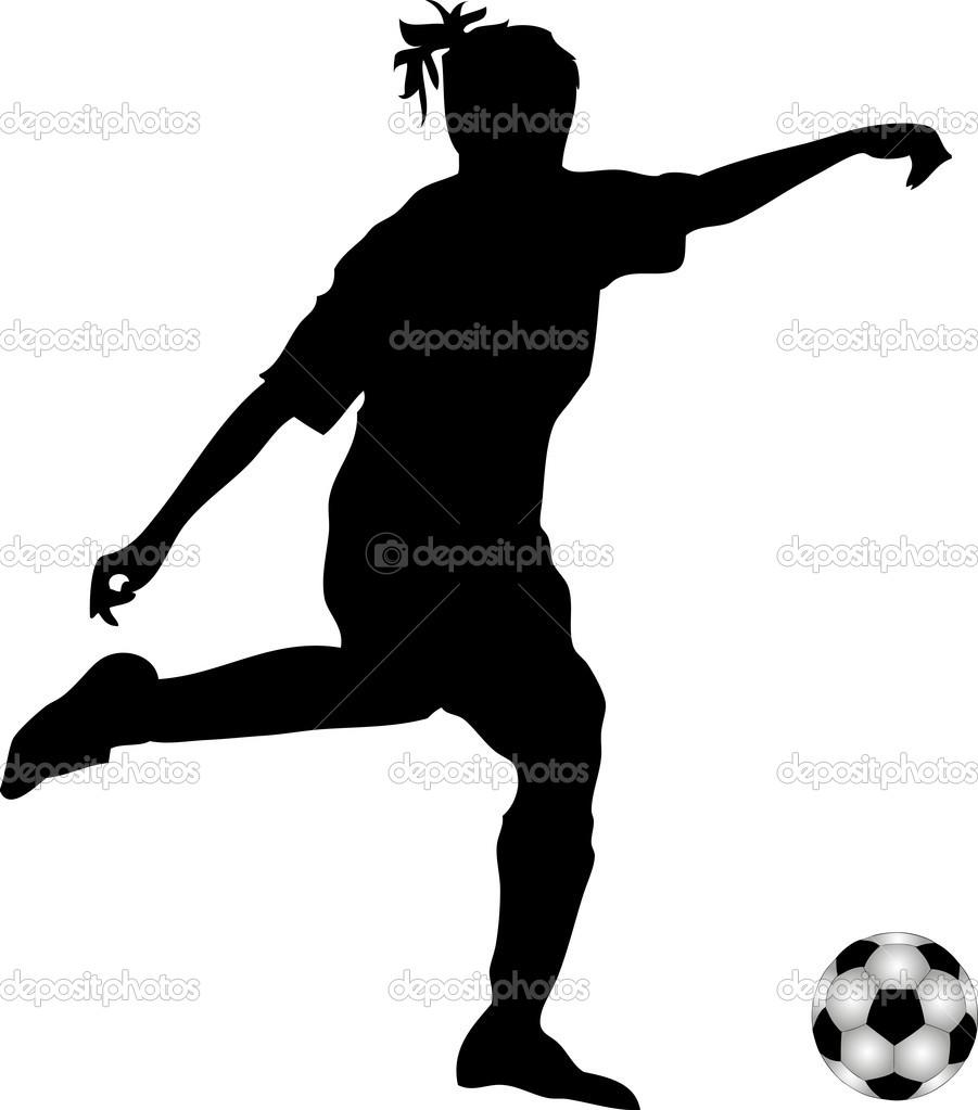 901x1023 Soccer Silhouette Clipart