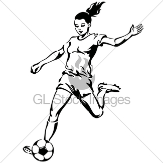 325x325 Female Soccer Player Gl Stock Images