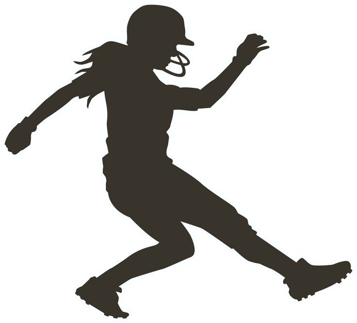 Girl Softball Clipart