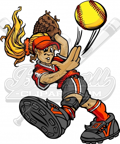 492x590 Softball Pitcher Clipart Vector Clipart Image