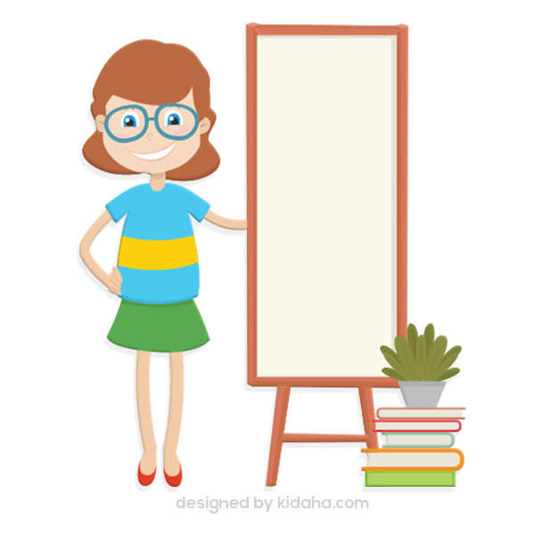 600x600 Free Girl Student Standing With White Board Free Education Clip