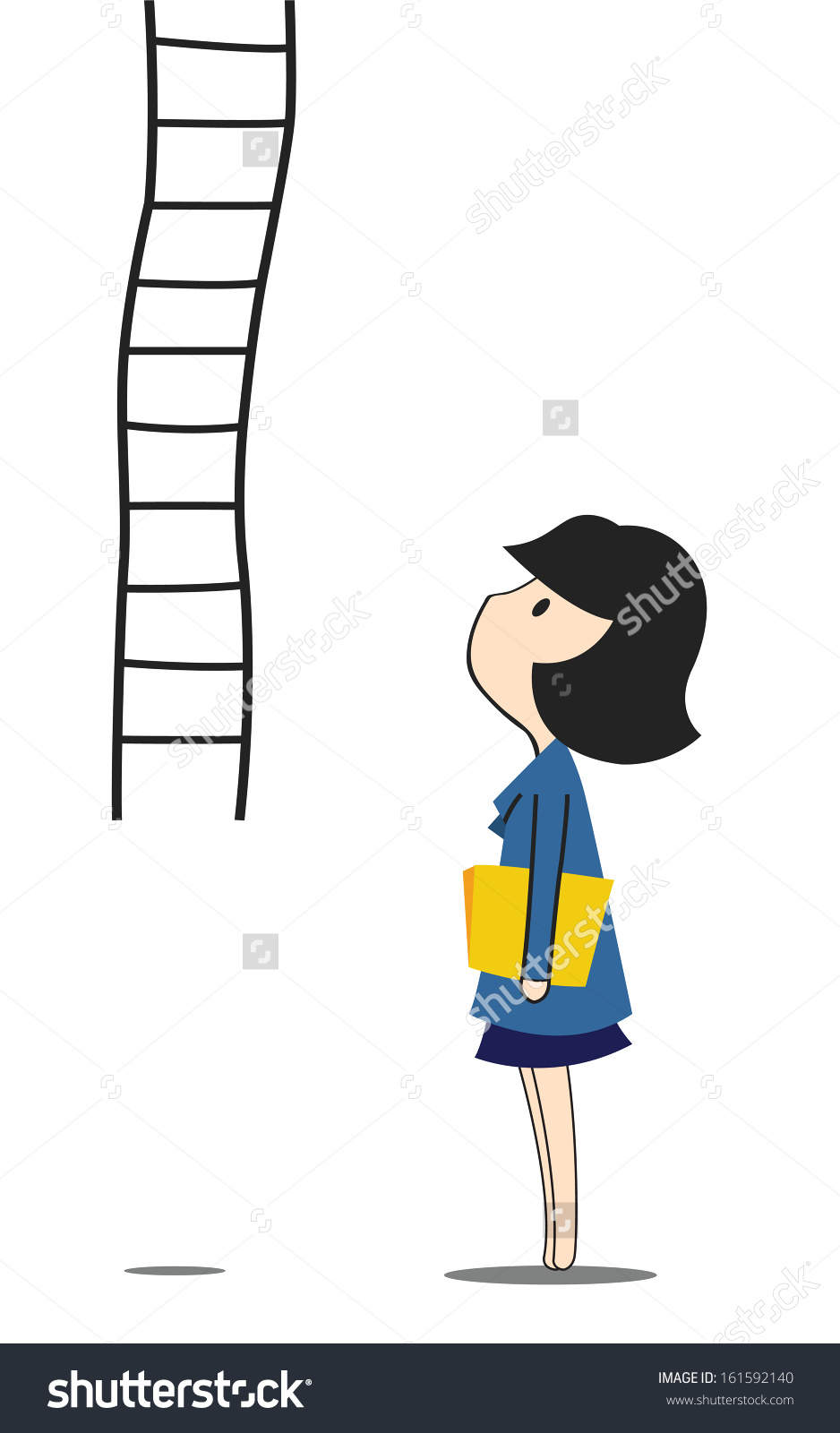 938x1600 Clipart Woman Climbing A Ladder