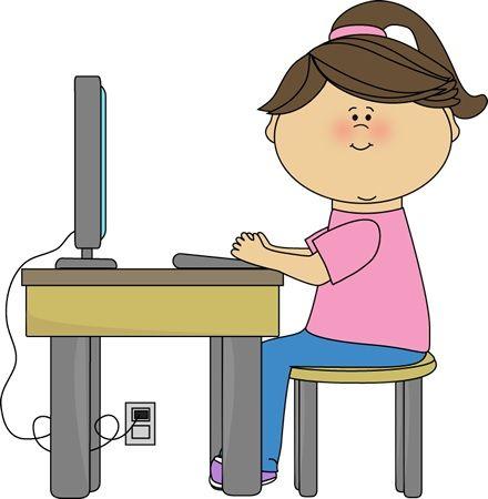 Girl Student Clipart