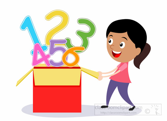 550x400 Girl Studying Math Clipart
