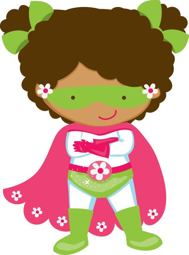 Girl Superhero Clipart