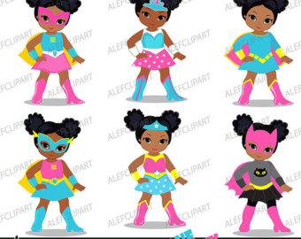 340x270 Girls Superhero Clip Art Supergirl Clipart African American
