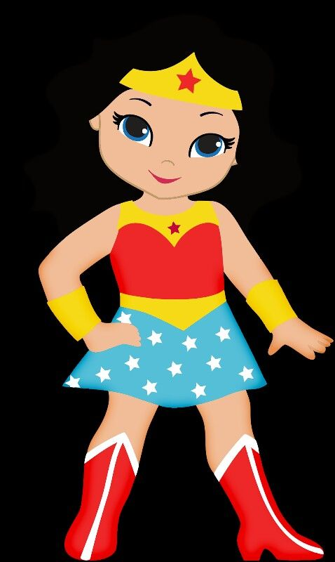 Girl Superheroes Clipart
