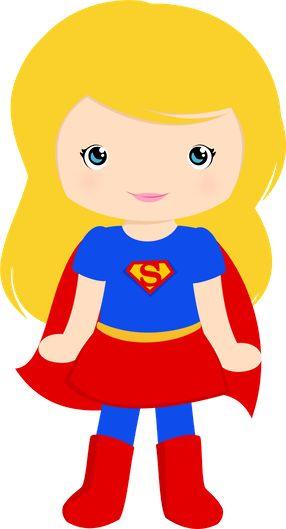 286x529 Cute Supergirl Clipart