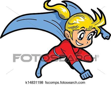 450x344 Clip Art Of Anime Manga Girl Superhero K14831198