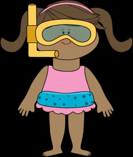 467x550 Girl Swimmer Clip Art