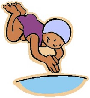 300x325 Girl Swimming Clipart