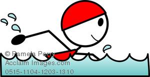 300x155 Art Image Of A Girl Stick Figure Swimming