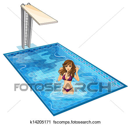 450x431 Clipart Of A Girl With Her Violet Bikini