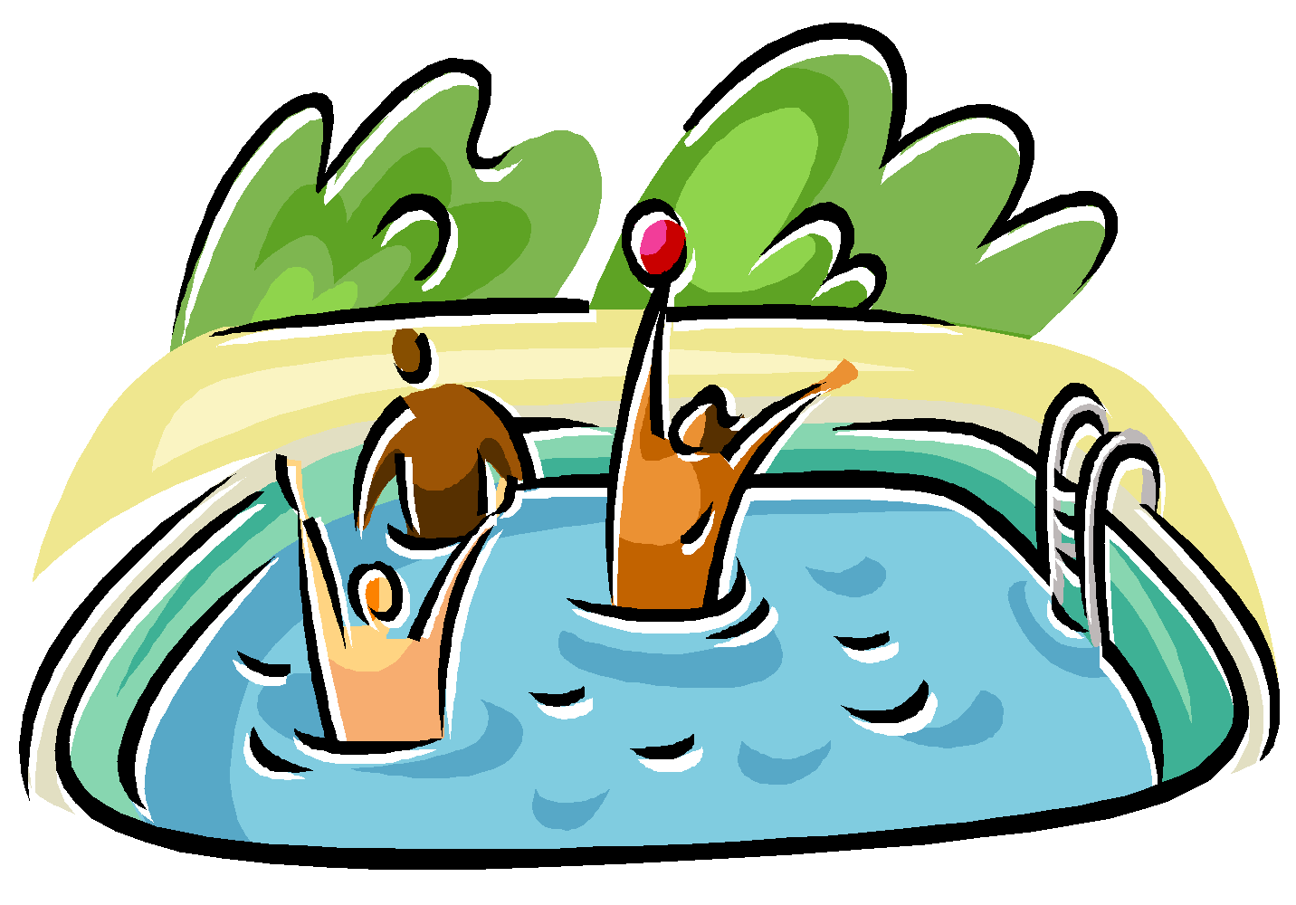 1432x1000 Clipart Pool Swimming