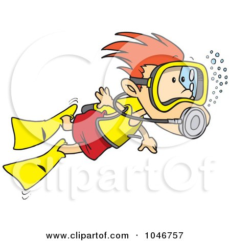450x470 Royalty Free (Rf) Clip Art Illustration Of A Cartoon Scuba Girl