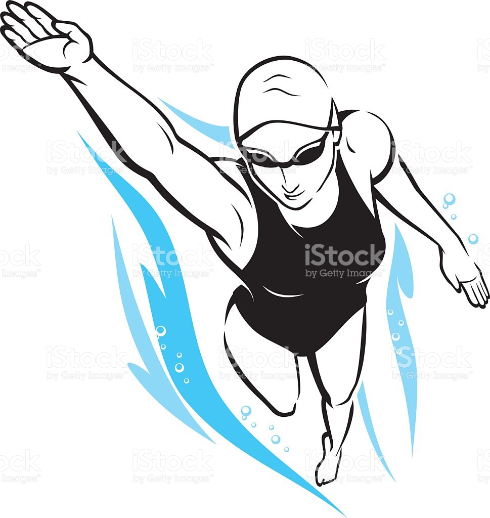 969x1024 Swimming Freestyle Clip Art