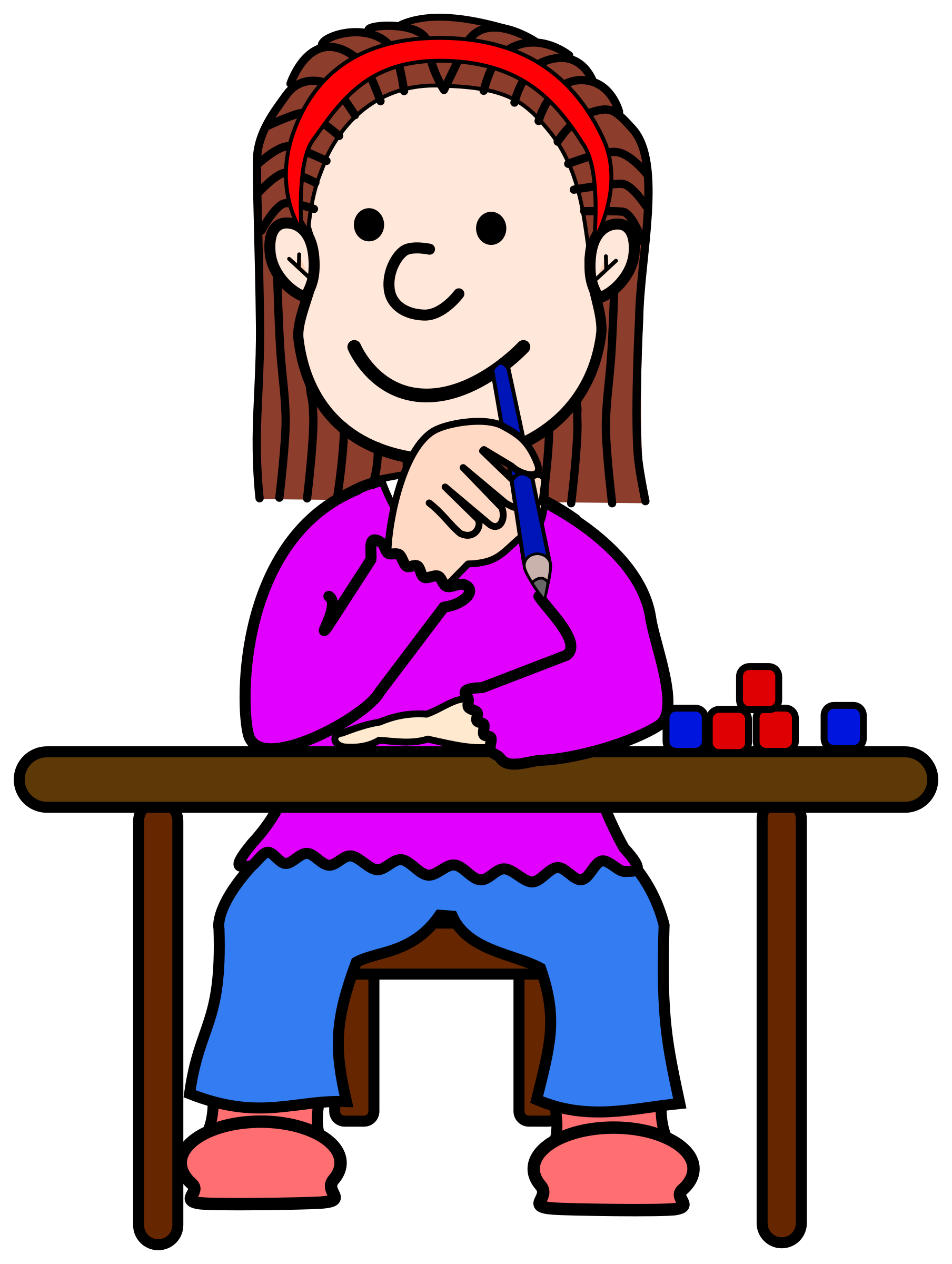 1808x2400 Student Thinking Thinking Student Cliparts Clip Art Library