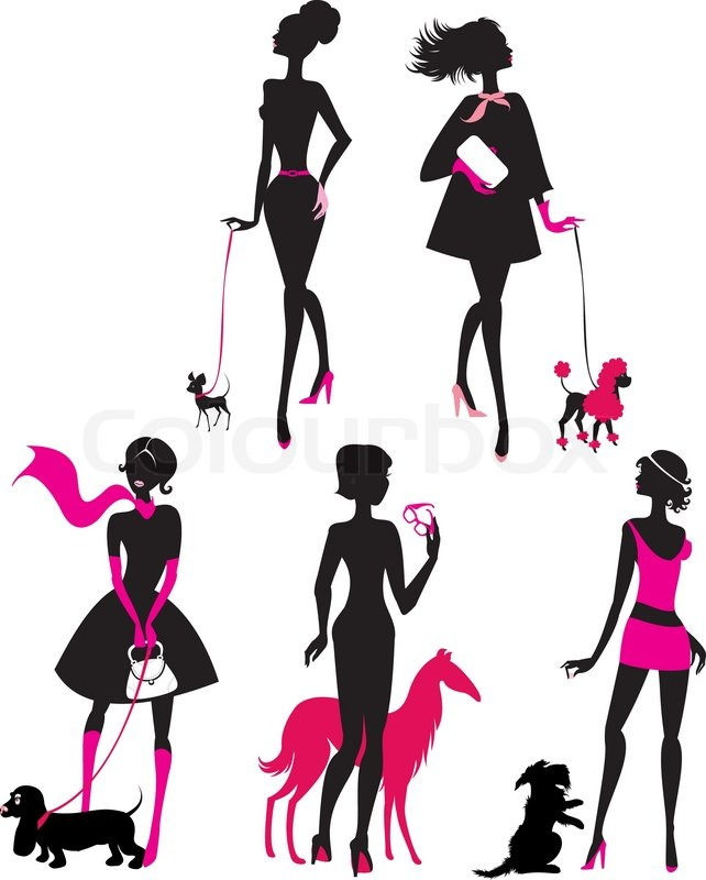 Girl Walking Dog Clipart | Free download on ClipArtMag