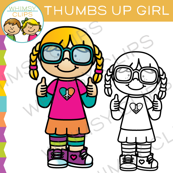 600x600 Thumbs Up Girl Clip Art , Images Amp Illustrations Whimsy Clips