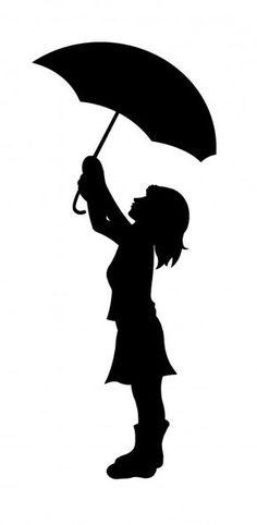 236x482 Girl Under Umbrella Silhouette Silhouette Of Girl With Umbrella