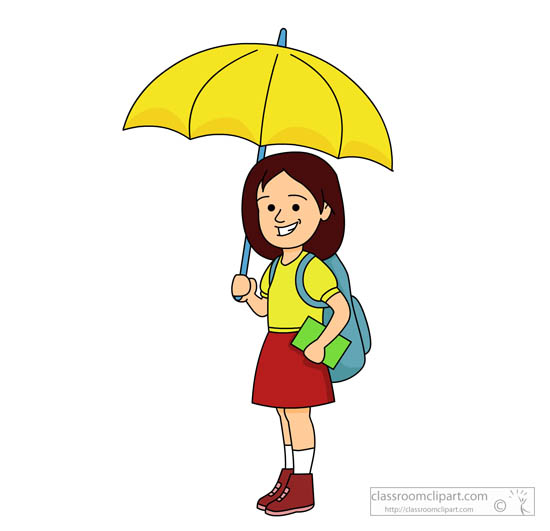 550x531 Girl Clipart Umbrella