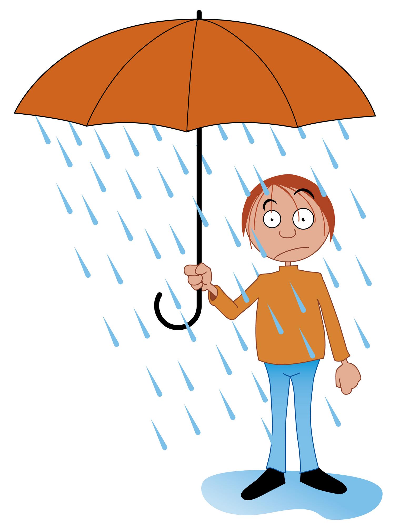1501x1996 In The Rain Clipart