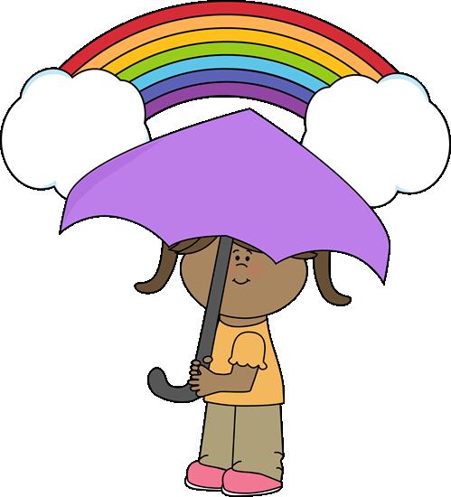 499x550 Rainbow And Girl Clip Art