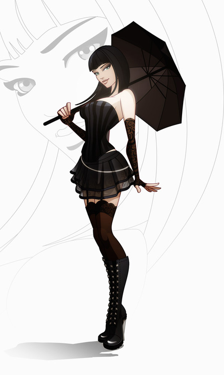 449x750 Gothic Girl By ~javieralcalde Cartoons, Anime,manga,drawing
