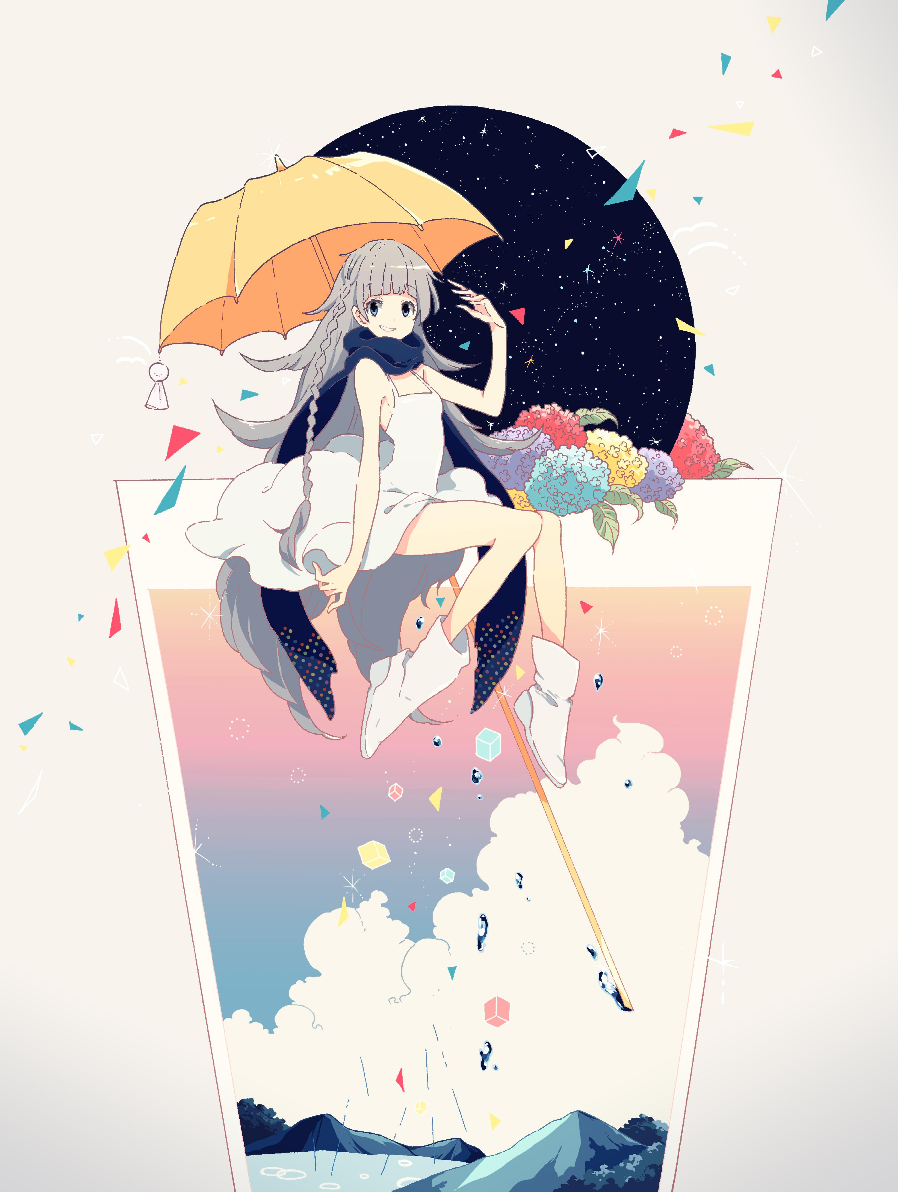 3124x4146 Anime Girl With Umbrella Pretty Anime Style Pics