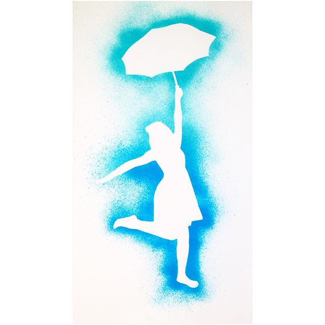 640x640 Girl Umbrella Drawing On Instagram