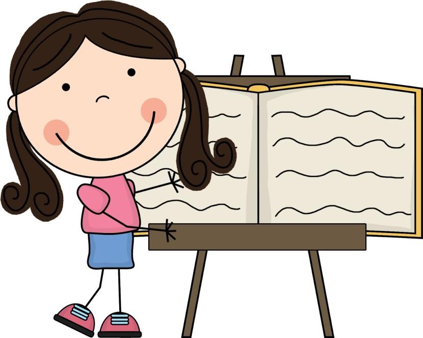 830x663 Girl Writing Clipart