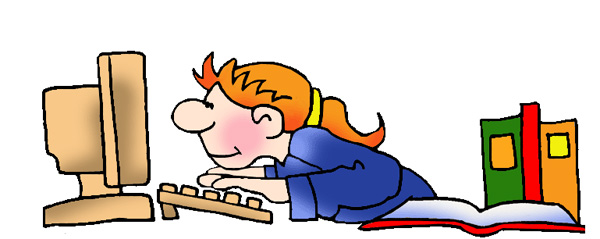 600x239 Girl Writing Essay Clipart
