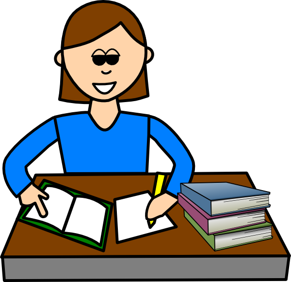 600x583 Girl Writing In Diary Clipart