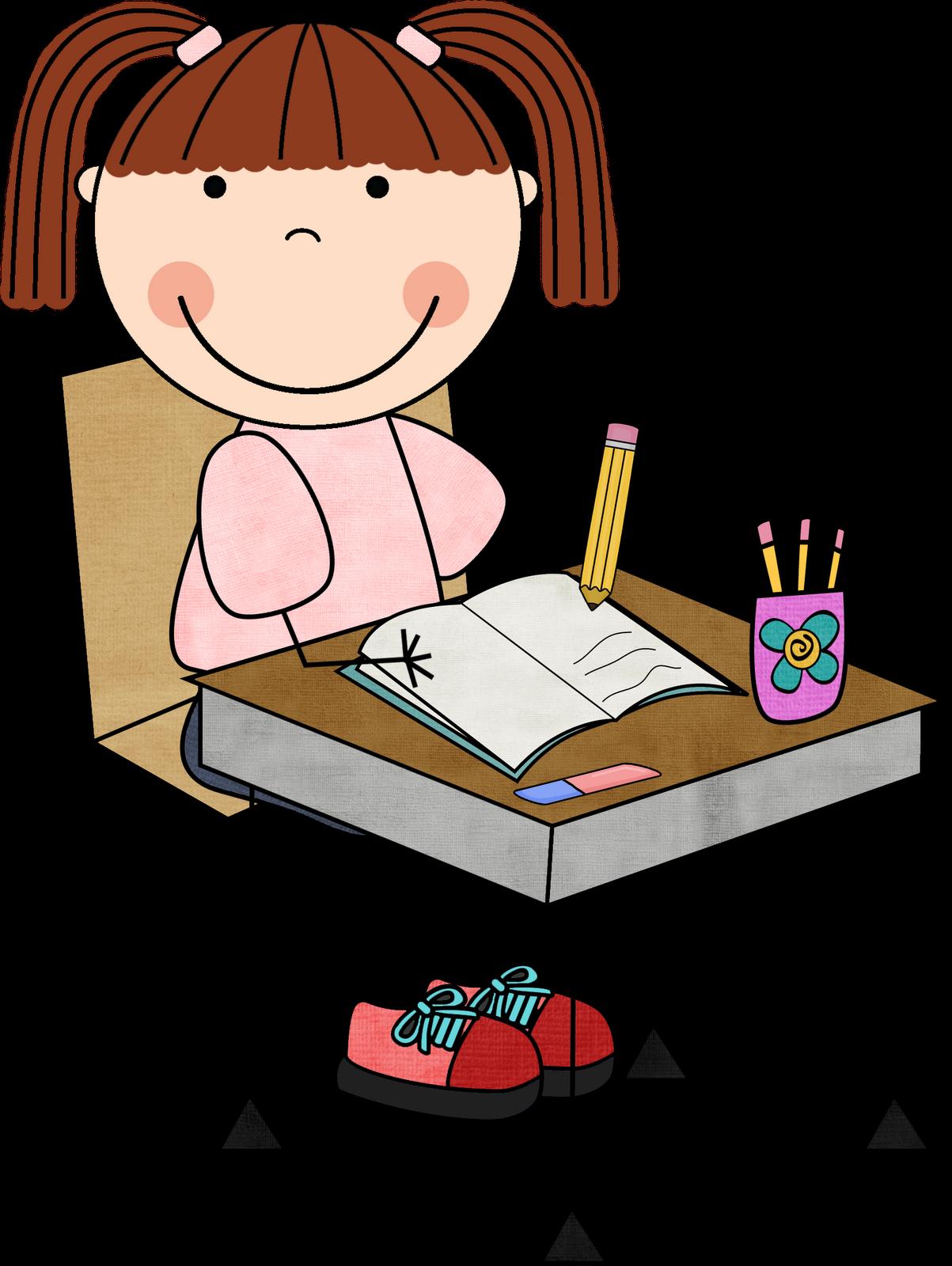 1203x1600 Girl Writing Clipart