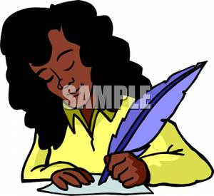 300x275 African American Woman Writing With A Feather Pen