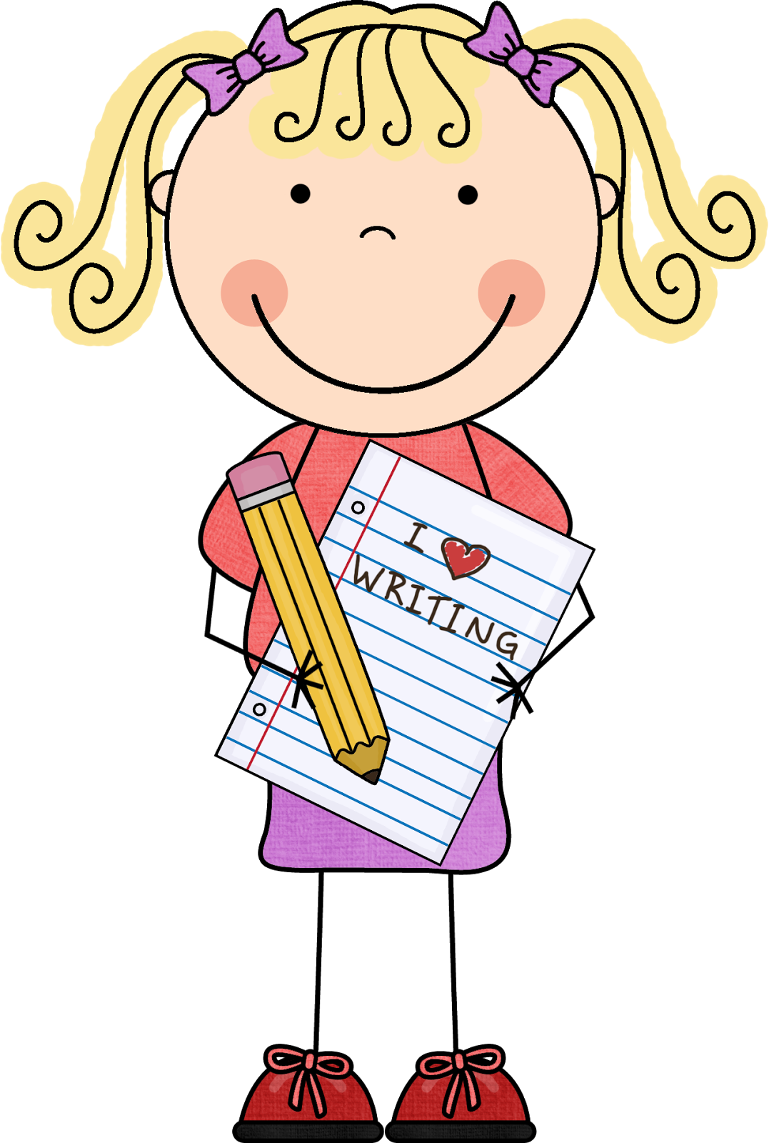 1077x1600 Image Of Girl Writing Clipart