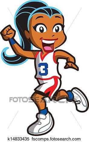 295x470 Clipart Of Girl Basketball Player K14833435