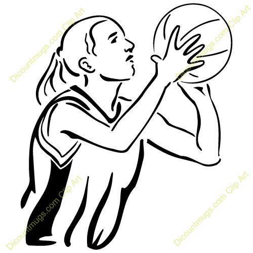 500x500 Girl Shooting Basketball Clipart