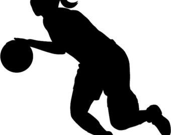 340x270 Girls Basketball Clipart