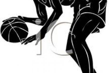 450x300 Girls Basketball Silhouette Clip Art