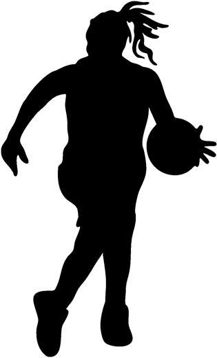 315x519 Girls Basketball Clipart 4