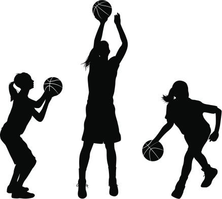 438x392 Best Girls Basketball Clipart