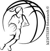178x179 Basketball Girl Clip Art Illustrations. 1,051 Basketball Girl