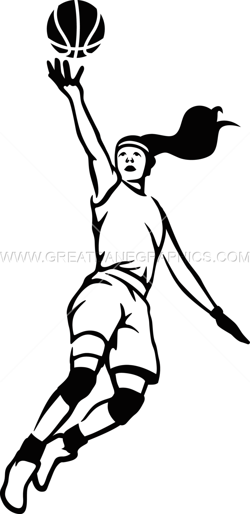 825x1696 Girls Basketball Layup Production Ready Artwork For T Shirt Printing