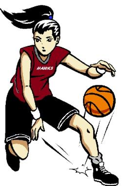 250x382 Basketball Player Clipart