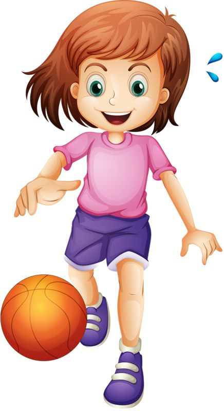 Girls Basketball Cliparts