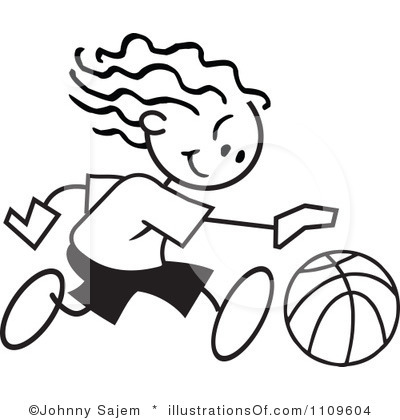 400x420 Free Girls Basketball Clipart