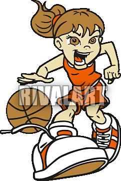 242x361 Girl Basketball Player Clipart Clipart Panda